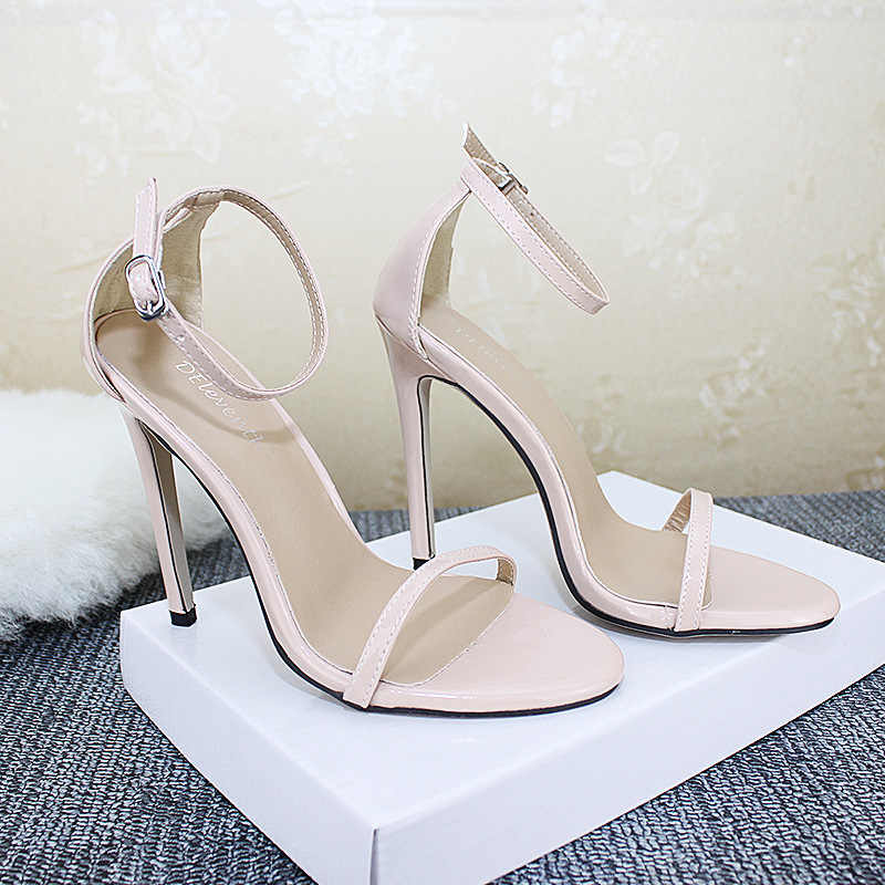 e51d75fdd05 ... POADISFOO 2019 Top Sale Sandals Classic Sexy Word with Fish Mouth Sandals  Women's 11cm High- ...
