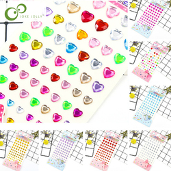 Children's toys Heart shape sticker DIY Decal Mobile Art Crystal Diamond Rhinestone Self Adhesive Scrapbooking Stickers GYH