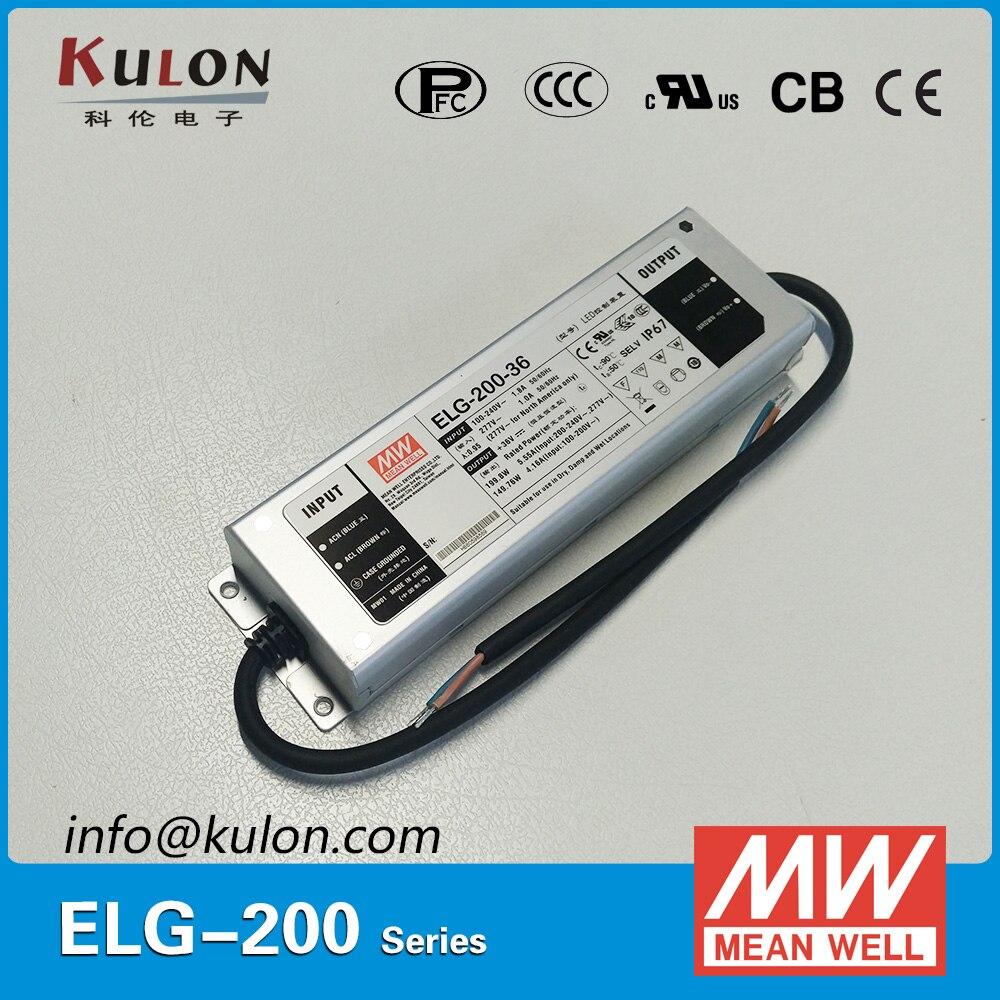 D'origine MEAN WELL ELG-200-36 200 W 36 V 5.55A IP67 Alimentation driver LED MEAN WELL ELG-200