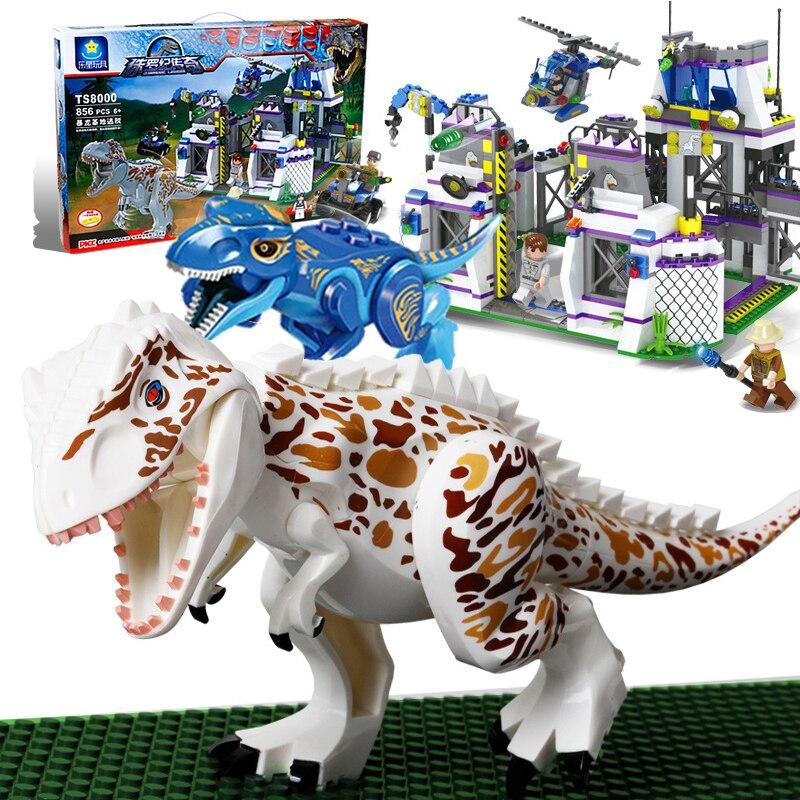 New Legoings Jurassic World Binosaur Building Blocks With Gundam Holding Weapons Hunt  Dinosaurs Children Gift Blocks Boy Toys комплект для установки газонокосилки робота husqvarna большой