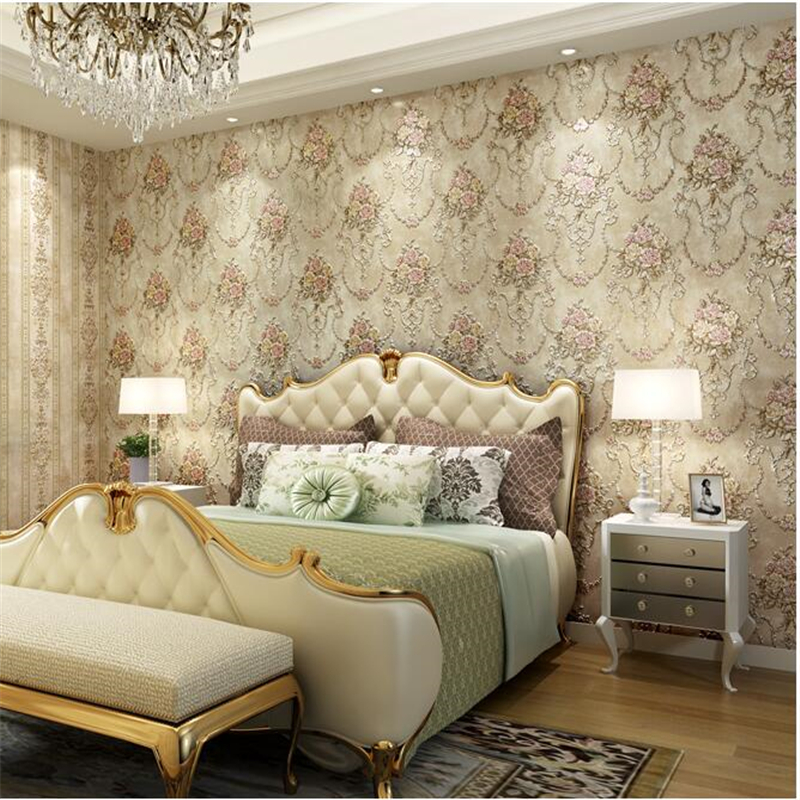ФОТО  beibehang American style deep embossed non-woven AB version of the striped papel de parede wallpaper living room TV background
