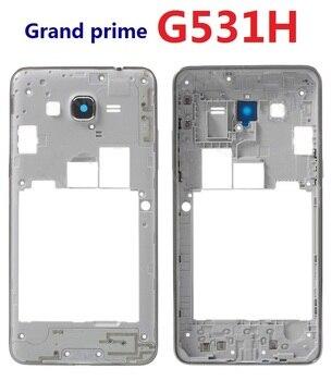 8f22a75d982 Para Samsung Galaxy Grand Prime G531H G531H/DS G531F carcasa bisel marco  frontal chasis con botón lateral lente de cámara de vidrio