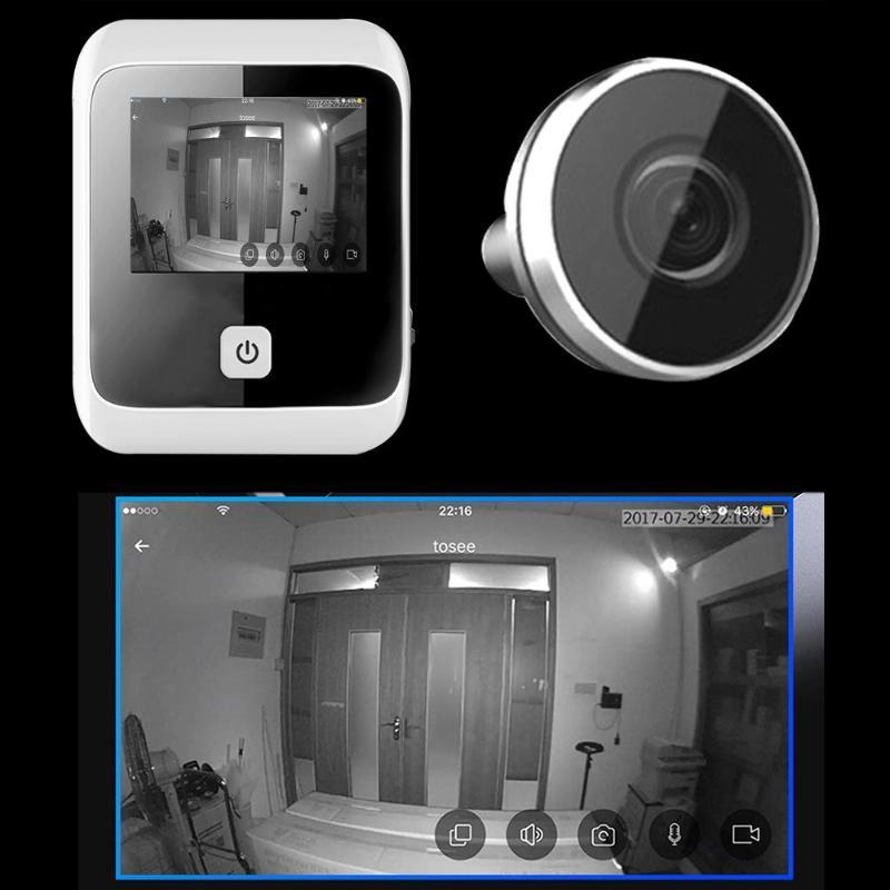 3.0 polegada de 170 Graus Grande Angular LCD Digital Espectador Olho Mágico Olho Campainha Câmera Digital HD Gravador De Vídeo Olho 1MP