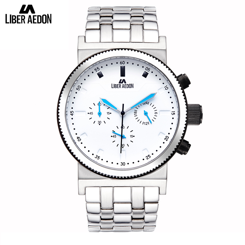 Liber Aedon Silver Stainless Steel Top Brand Luxury Mens Watch Unique Design Quartz Classical Bussiness Mens Watches stainless steel cuticle removal shovel tool silver