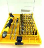 Juego de destornilladores magnéticos 45 en 1, juego de destornilladores para teléfono, herramienta de reparación de computadora, 45 bits + pinzas de barra de extensión
