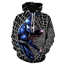 New Marvel Comics 3D Printed Iron Spiderman Sweatshirt Men/Women Tops Hoodie Men Fashion Autumn Hoodies Streetwear Clothes(China)