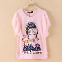 2017 Summer Girls Kids Short Sleeve Tees Clothing Children T Shirts 100% Cotton Youth Girls T-Shirts Clothes