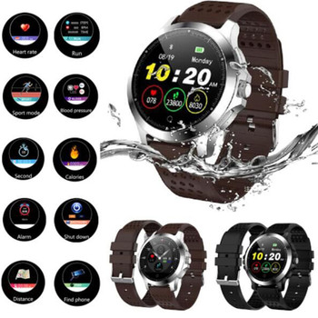 Smart watch color screen ECG and PPG IP67 sports stopwatch for Android and iphone waterproof camera smart watch 2019 new light