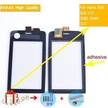 For Nokia Asha 308 309 310 3080 3090 N308 Touch Screen Touch Panel Sensor Digitizer Front Glass Outer Lens Touchscreen NO LCD