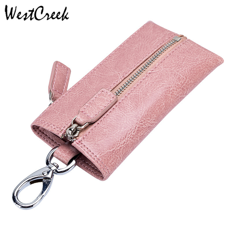 WESTCREEK Brand Men Genuine Leather Zipper Retro Key Wallets Casual Car Key Housekeeper Key Holder Fashion Women Coin PurseWESTCREEK Brand Men Genuine Leather Zipper Retro Key Wallets Casual Car Key Housekeeper Key Holder Fashion Women Coin Purse