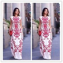 Novas Mulheres Elegante Imprimir Floral Longo Maxi Festa À Noite Vestido de Praia