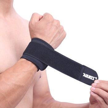 1 Uds., muñequera de soporte ajustable, muñequera de marca para hombre y mujer, muñequera de Protección deportiva profesional para el gimnasio