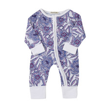 Newborn Toddler Baby Boys Girls Flower Print Romper Jumpsuit Outfits Clothes Long Sleeve Whole-Body Floral Rompers Casual Daily