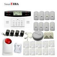 SmartYIBA GSM Wireless Security Protection Auto Dialer With PIR Motion Detectors Door Magnetic Sensors Gas Sensor Alarm Kit