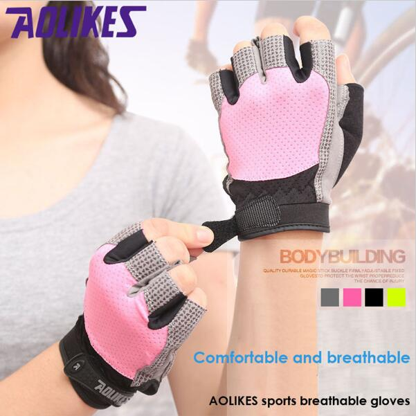 AOLIKES Gym Body Building Training Sports Fitness Weight Lifting font b Gloves b font Men Women