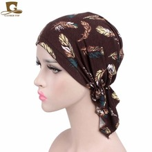New women soft wrinkle head Scarf Chemo Hat Turban Pre-Tied Headwear Bandana headscarf Tichel for Cancer