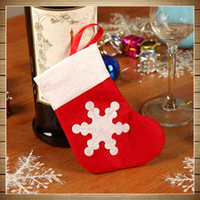 Xmas Socks 24pcs/lot Red Dinnerware Cover Socks New Year Christmas Ornaments For The Christmas Tree Trinket Hanging Socks A133