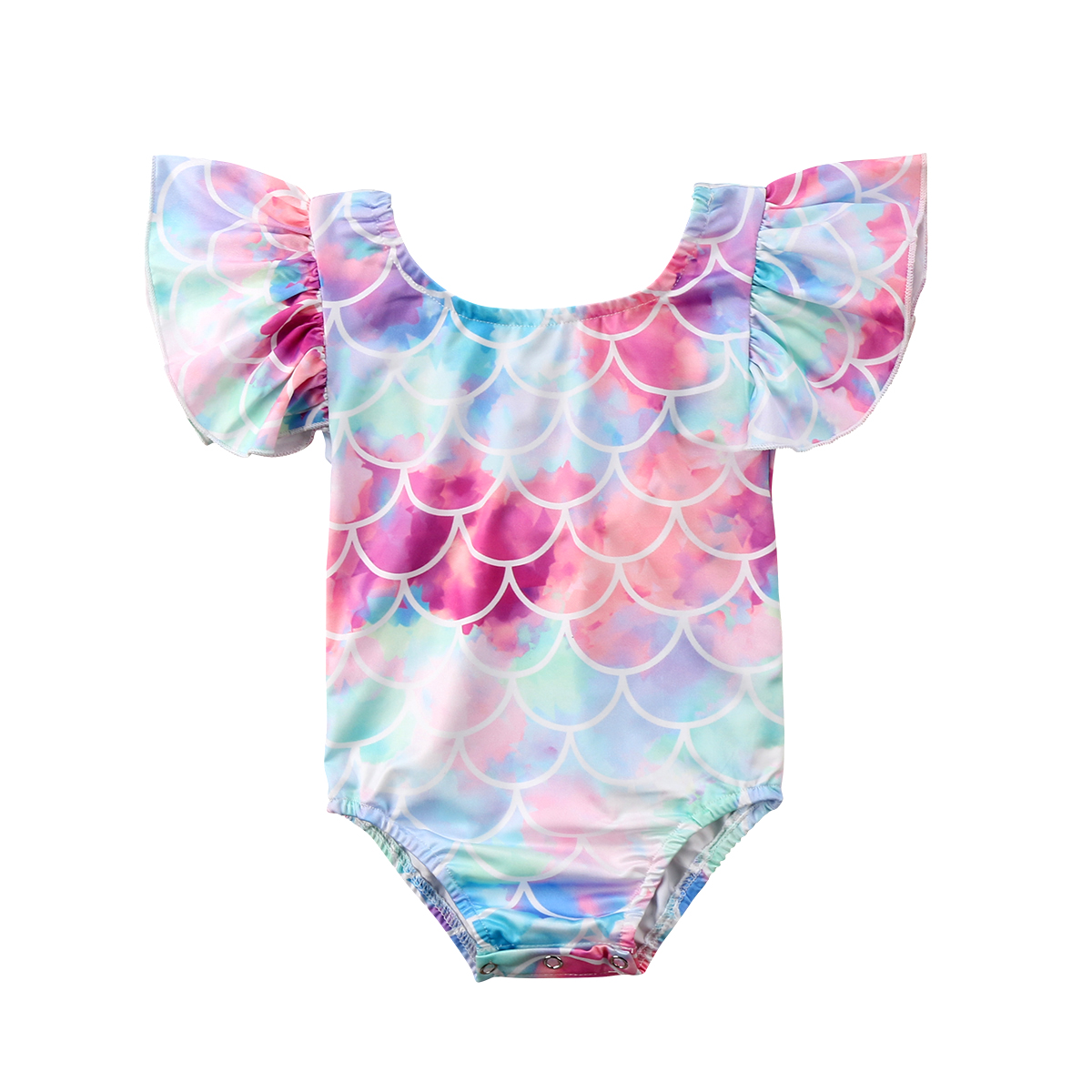 Toddler Kids Baby Girl Mermaid   Romper   Swimwear Swimsuit Bikini Set Bathing Suit Clothes