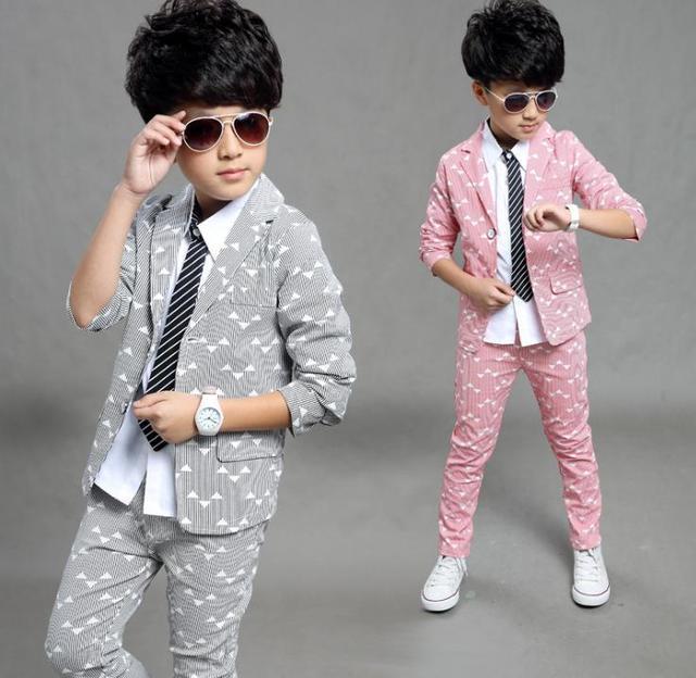 子供のスーツ少年のスーツスーツ 2016 秋新韓国語バージョン中国の子供のドレススーツ、 2 個ボーイズ