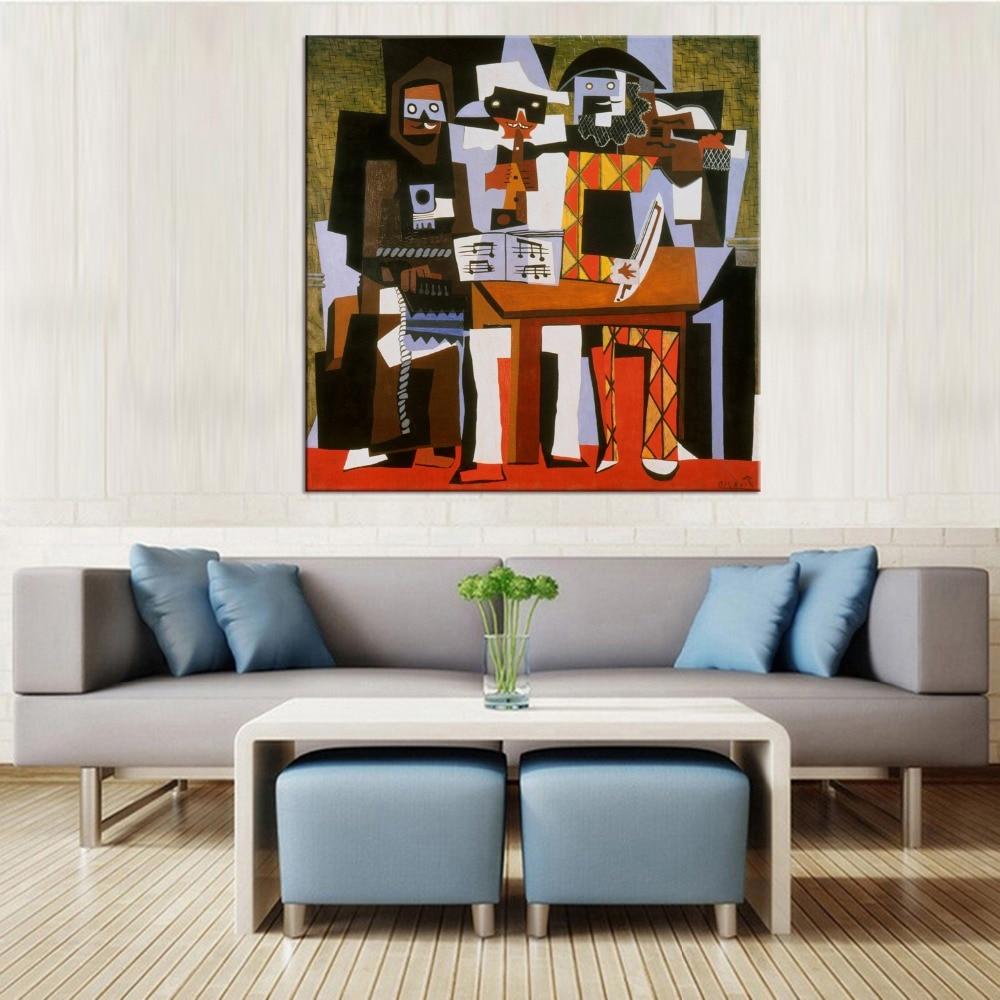 1 panneau toile peinture vintage home decor mur photos pour salon peinture piano et orchestre image dans peinture et calligraphie de maison jardin sur
