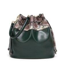 Balde mulheres saco crossbody borlas de couro pu marca bolsas de grife de alta qualidade serpentina splice mulheres sacos do mensageiro(China (Mainland))