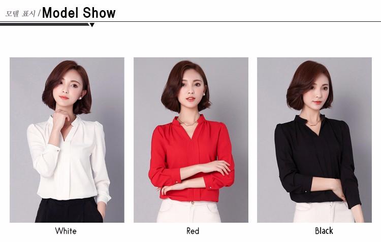 HTB1mLyhLpXXXXagXXXXq6xXFXXX2 - Long Sleeve Elegant Ladies Office Shirts Fashion Casual Slim Women