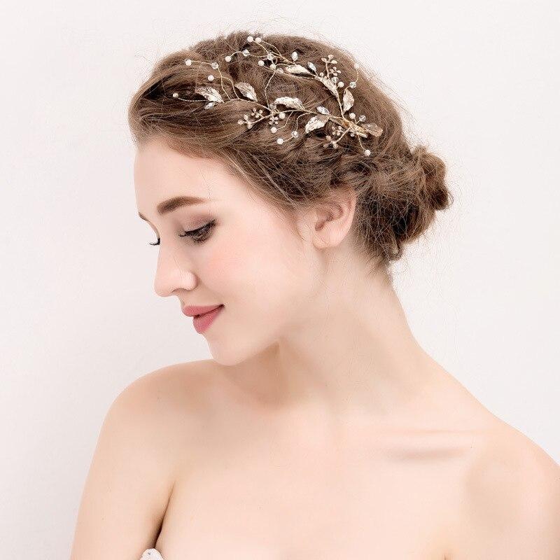 Luxury Bridal Hairpiece Gold Planted Wedding Bridal Princess Crystal