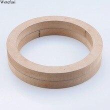 """Wotefusi автомобильные стерео 2 шт универсальные автомобильные стерео 7,2"""" деревянные MDF Монтажные кольца для динамиков [QPA433]"""
