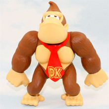 6 15cm Donkey Kong Action Figures Super Mario Bros Figures Collectible Model Doll Toys Figurine
