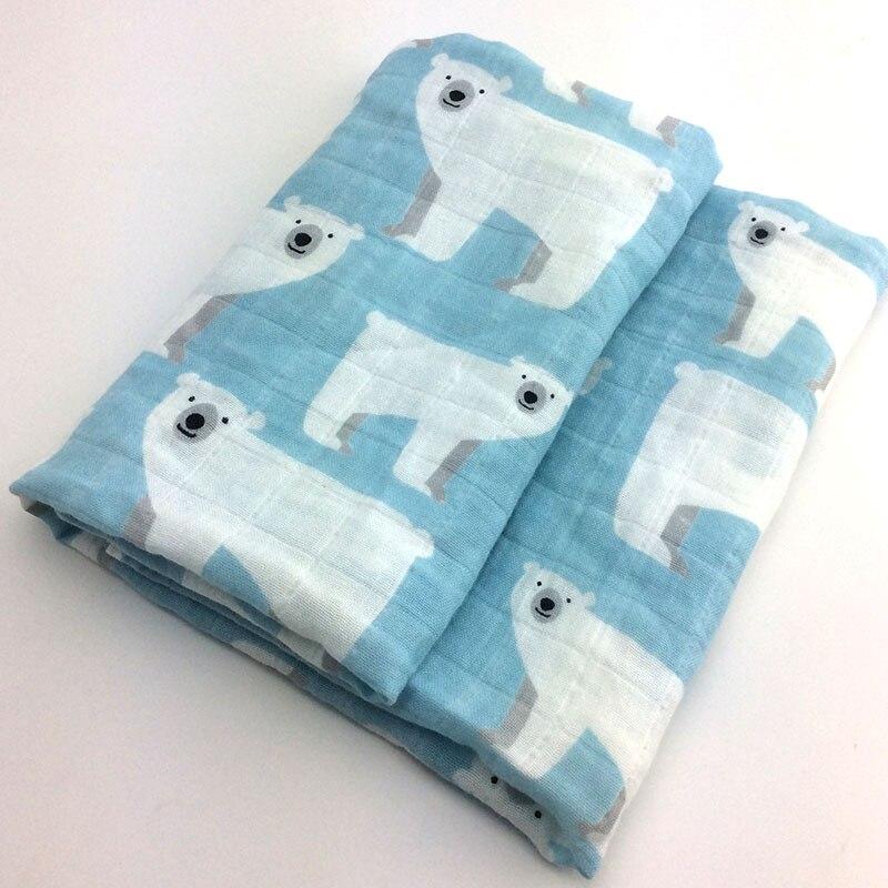 Новинка; хлопковое детское одеяло для новорожденных; мягкое детское одеяло из органического хлопка; муслиновое Пеленальное Одеяло для кормления; тканевое полотенце; шарф; детские вещи - Цвет: 08