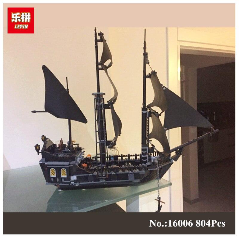 804Pcs LEPIN 16006 Pirates Of The Caribbean The Black Pearl Ship Model font b Building b