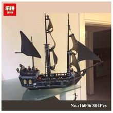 804 Pcs LEPIN 16006 Pirates Des Caraïbes Le Black Pearl Ship Model Kit de Construction Blocs BricksToy Compatible 4184