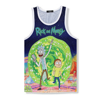 Singlets Quick Dry Tank Tops Bodybuilding Men S Green Cartoon Printing Vest
