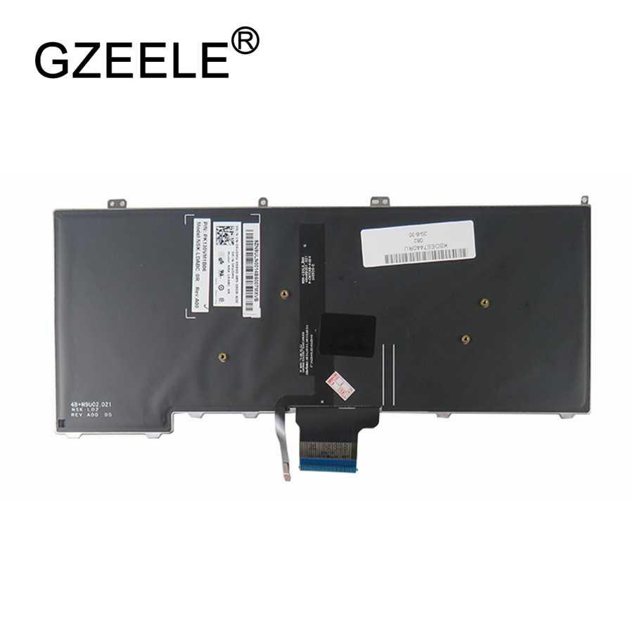 Gzeele новый для Dell Latitude E7440 E7240 русской клавиатуры ноутбука с подсветкой RU Подсветка клавиатуры