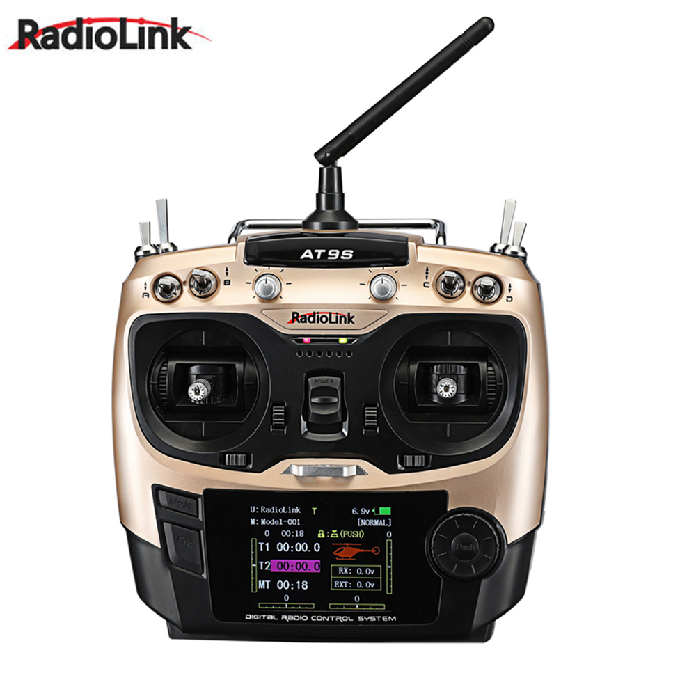 Radiolink AT9S R9DS Radio Remote Control System DSSS & FHSS 2.4G 9CH Transmitter & Receiver for Rc Quadcopter upgraded radiolink r9ds 2 4ghz 9ch dsss receiver