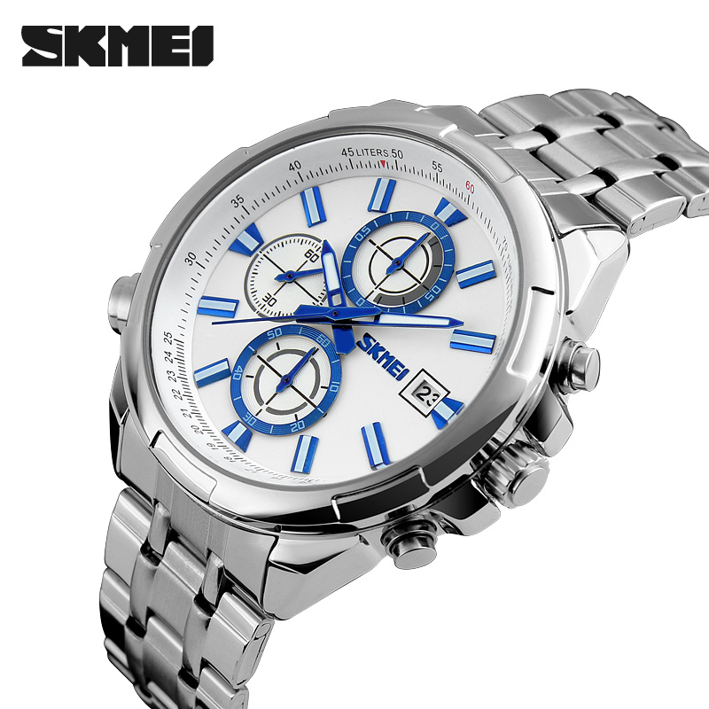 men watches SKMEI fashion casual quartz watch full steel men sports watches men clock military wristwatches relogio masculino недорго, оригинальная цена
