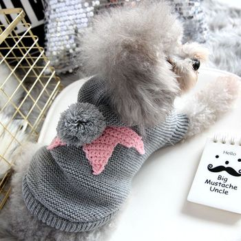 Autumn Winter Star Sweater For Dog Fashion Hoodie Coat XS XL Little Small Animal Knit Costume Jacket Warm French Bulldog Terrier