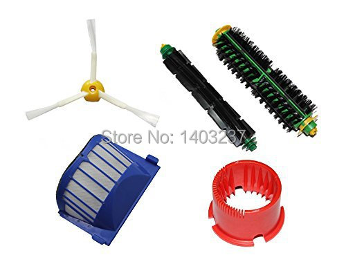 Bristle+Flexible Beater Brush Cleaning Tool  3-armed Side Brush Aero Vac Filter for iRobot Roomba 500 Series 536 550 551 552 564 3 armed side brush flexible beater brush bristle brush filter for irobot roomba 500 series vacuum cleaner accessory kit