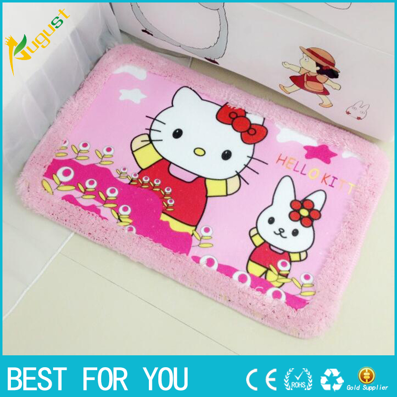 Hello Kitty Carpet Alfombra Strips Door Mat Hall Bathroom KitchenHome Rug  Absorbent Non Slip Coral