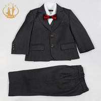 Nimble boys suits for weddings grey suit for boy raditional Formal Blazer Sets Birthday Party Gentleman boys prom suits 2018 new