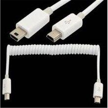100PCS/ USB cable retractable spring cable mini 5P to mini 5P mini 5P male to male extension cable digital camera 5 core mobile недорго, оригинальная цена