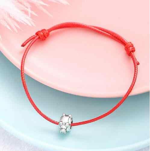S 174 корейский этнический стиль мода пара ручной работы камень светящийся пятиконечная звезда сердце лист браслет унисекс черный и красный веревка