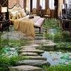 Custom Mural Wallpaper 3D Stereo Lotus Pond Stone Flooring Sticker Kitchen Bathroom Outdoors Wear Non Slip