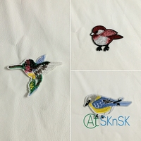150pcs/lot applique embroidery bird sew on patches applique affixed iron badges for clothes diy accessories A2