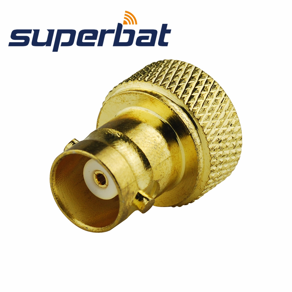 Superbat SMA-BNC Adapter SMA Male Plug To BNC Female Jack Straight Glodplated Connector For Vertex Icom Kenwood Radio