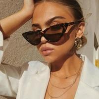 Sexy Retro Cat Eye Sunglasses Women Small Black White Triangle Vintage UV400 1