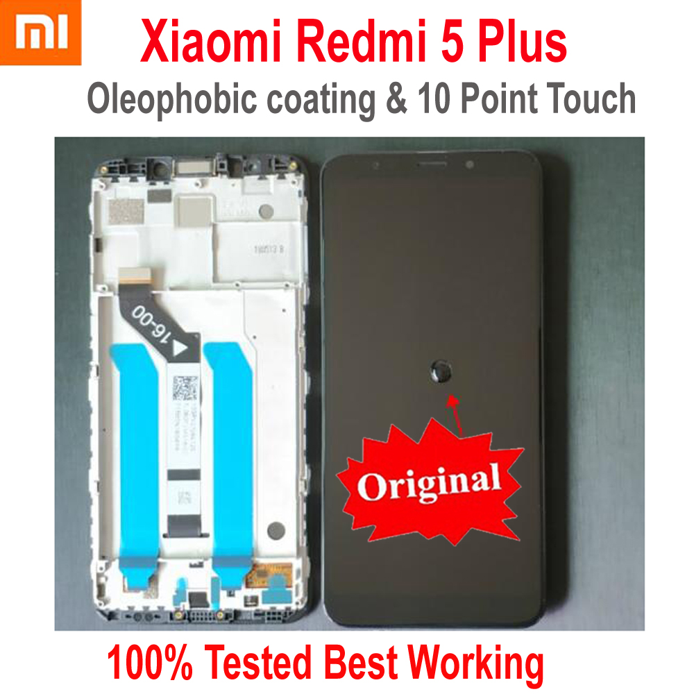 Original Best Xiaomi Redmi 5 Plus IPS LCD Display 10Point Touch Screen Digitizer Assembly Sensor + Frame Redmi5 Plus MEG7 Glass