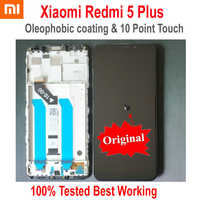 Original Beste Xiaomi Redmi 5 Plus IPS LCD Display 10 Punkt Touchscreen Digitizer Montage Sensor + Rahmen Redmi5 Plus MEG7 Glas