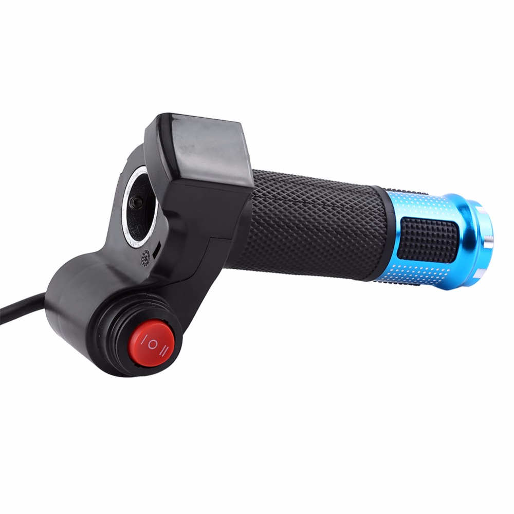 Top 1set electric scooter handlebar grip electric bike throttle twist accelerator with LED display tricycle speed control 7 wires 4
