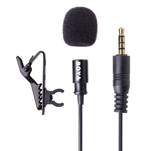BOYA BY-LM10 Omnidirectional Lavalier Microphone for IOS iPhone 7 6 6s 5 4s Sumsang GALAXY Xiaomi Smartphone Broadcast Recording